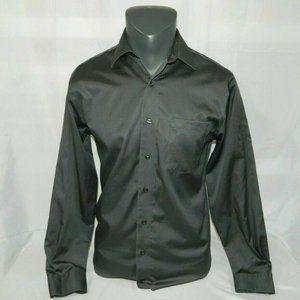 Charcoal Gray 14.5 32/33 Dress Shirt slim Fit